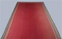 rectangular woven red carpet by puk lippmann