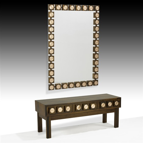 mirror and three drawer console 2 works by ab glas tra
