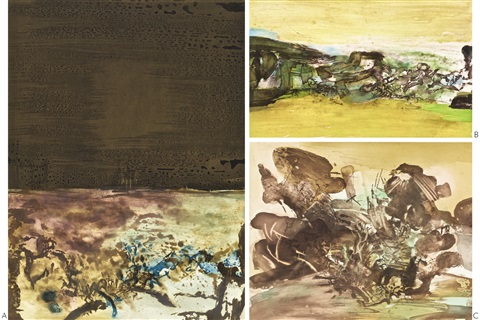 sans titre 3 works by zao wou ki