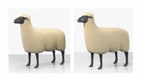 moutons de pierre, a pair of sheep by françois-xavier lalanne