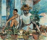 vendedores de plantas/ flower market lima by bob gesinus visser