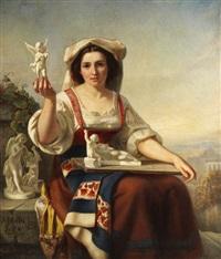 italienische amoretten-verkäuferin by carl huth