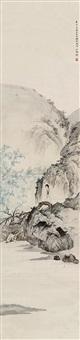 竹溪仕女 (lady) by liu weiliang and chen shaomei