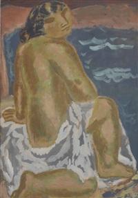 woman on the beach by leo gestel