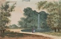 deux femmes dans un parc by louis gadbois