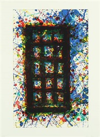 concert hall set ii by sam francis