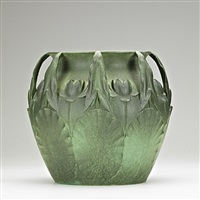 jardiniere molded with pond lilies (no. 86) by w.j. dodd