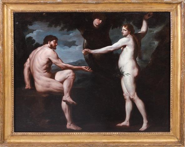 adamo ed eva nel paradiso terrestre by nicola vaccaro