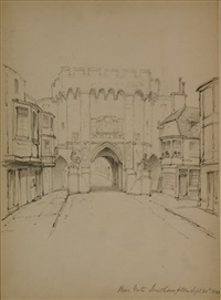 bar gate southhampton (+ rouen; 2 works) by john william casilear