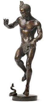 charmeur de serpents - auch genannt danseur nubien by charles arthur bourgeois