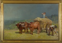 haying before the storm by john joseph enneking