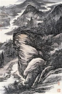 看松图 (landscape) by xu jiechuan