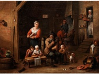 niederländisches genrebild by matheus van helmont
