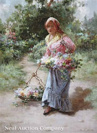 flower girl by charles john arter
