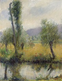 view of the french countryside by edith a. scott