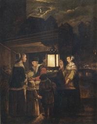 gemüsestand bei lampenschein an einem kanal by anonymous-dutch (17)