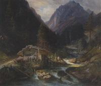 mühle am gebirgsbach by fréville
