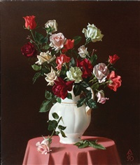 vase of flowers by boris leifer