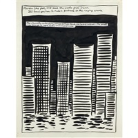 untitled (murder the foe, and save the walls from breach....) by raymond pettibon