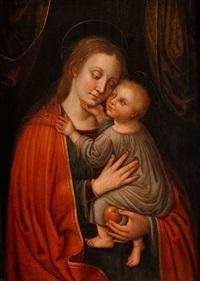 madonna mit dem kind und einem apfel by adriaen isenbrant