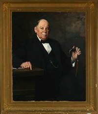 portrait of a gentleman by herman albert gude vedel