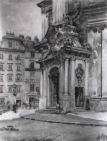 portal der peterskirche in wien by rudolf pichler