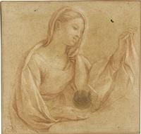 study of a female saint by carlo maratta
