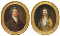 porträtt föreställande kamrer och fru pihl (f. winberg) (pair) by anonymous-swedish