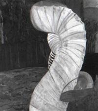 grosse gelbe figur by max kaminski