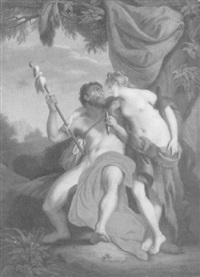 herakles und omphale by johann theodor eusebius faber