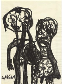 two figures by lotti van de gaag