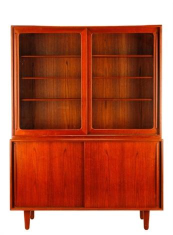 Harry Ostergaard Danish Modern China Cabinet By Harry østergaard