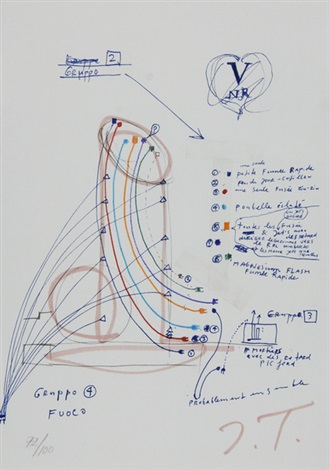 sheet from la vittoria by jean tinguely