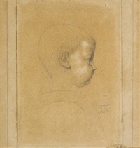 portrait of an infant in profile by jean-auguste-dominique ingres