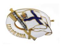 the yacht tsarevna: a badge by oskar woldemar pihl