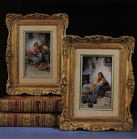 marktfrau (+ another; pair) by francois maurice reynaud