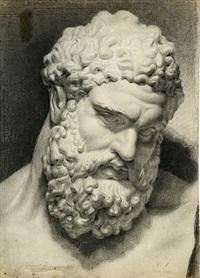 academy study of a sculpture by christian (jens c.) thorrestrup