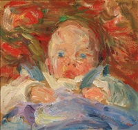 portrait of a baby by sigurd swane