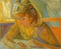 girl reading by paul hom