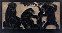 bären und panther (2 works) by franz barwig the elder