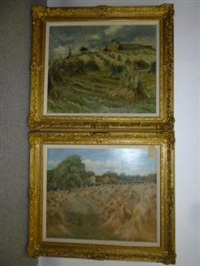 hollings close farm, airedale (+ war harvest, pair) by james arundel
