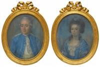porträtt föreställande sannolikt anders magnus klingspor och dennes andra hustru juliana jakobina möllenhauer, borgholms kungsgård (pair) by anonymous-swedish