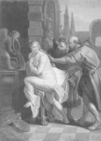 susanna wird von den beiden alten beim bade überrascht by johann theodor eusebius faber