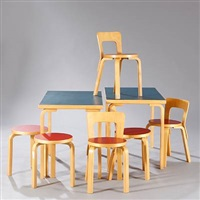 dining room suite (set of 8) by alvar aalto