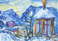 salzburg-blick von maria plain im winter by rudolf kortokraks