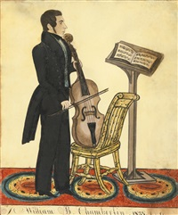 william b. chamberlin with violoncello and music by joseph h. davis