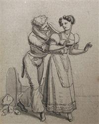 besser spät als nie gefreit (+ 11 others; 12 works on 1 sheet) by johann michael (volz) voltz