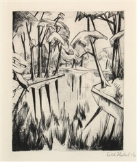 """""""parksee"""" by erich heckel"""