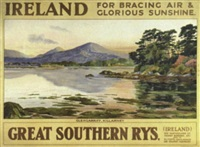 ireland for bracing air and glorious sunshine, glengarriff, killarney, great southern rys by walter till