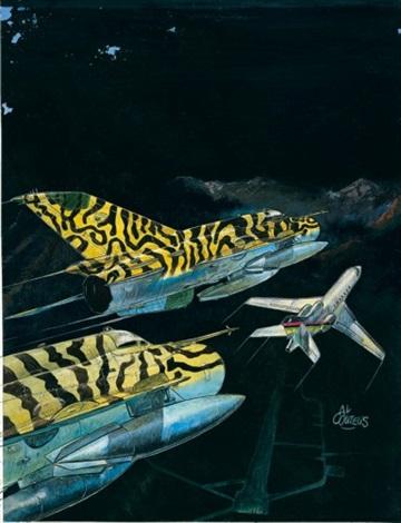 tanguy et laverdure (cover for album survol interdit) by alexandre coutelis